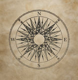 Wind rose. On the old grunge paper Stock Image