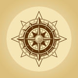 Wind rose in old retro style. Vector. Royalty Free Stock Image