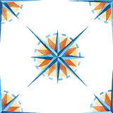 Wind rose pattern Stock Image