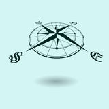 Wind rose perspective Stock Images