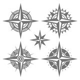 Wind Rose Retro Design Set. Vector Royalty Free Stock Images