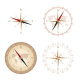 Wind rose retro design Stock Image