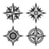 Wind Rose Retro Style Set. Vector Royalty Free Stock Photography