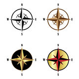 Wind rose set. Set of four wind rose isolated on white background.EPS file available vector illustration