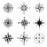 Wind rose set Stock Photos