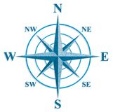 Wind rose. The sign on the old maps. Royalty Free Stock Photo