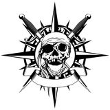 Wind rose and skull Stock Photo