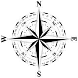 Wind rose on a stand-alone white background Stock Photography
