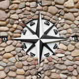 Wind rose on stone background Stock Photography