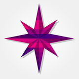 Wind rose symbol with colorful triangles Royalty Free Stock Photo