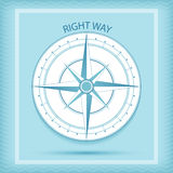 Wind rose symbol. Compass - Right way concept. Vector illustration. Nautical background Royalty Free Stock Photos