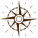 Wind rose symbol Stock Images