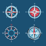 Wind rose, Vector compass flat icon set. Wind rose, Vector compass set Stock Images