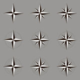 Wind rose, vector illustration. Collection, set. Stock Image