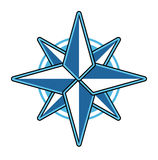 Wind rose vector illustration. Stock Photography