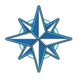 Wind rose vector illustration. Wind rose compass flat vector symbol exploration design old sign. Travel marine star wind rose symbol longitude shape Stock Photography