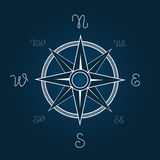 Wind rose vector illustration. Polaris coordination compass poster with rope knot signs. West east pointer Stock Photo