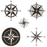 Wind rose vector set Stock Images