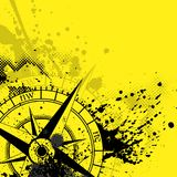 Wind rose yellow background Royalty Free Stock Photography
