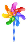 Wind rotary. Simple traditional mechanics, air movement, wind power moves. Fun, colorful children's game, a decorative garden ornament Stock Photography