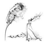 Wind and smoke Royalty Free Stock Images