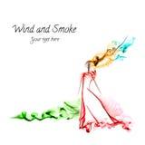 Wind and smoke Stock Photos