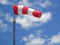Wind sock. In front of blue sky royalty free stock photography