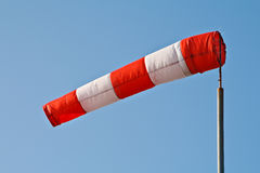 Wind sock. A wind sock on a windy day and blue sky royalty free stock photography