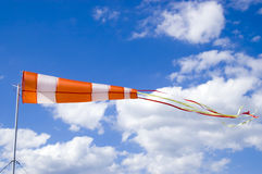 Wind sock. In front of blue sky stock photo