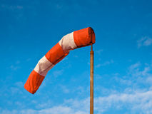 Wind Sock Blue Sky Stock Image
