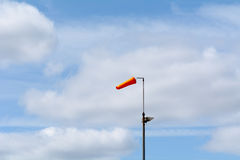 Wind sock blowing in wind Stock Images