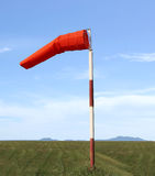 Wind sock of equipment check the wind blow direction in day time Stock Photography