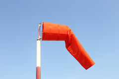 Wind sock of equipment check the wind blow direction in day time Royalty Free Stock Photo