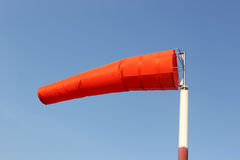 Wind sock of equipment check the wind blow direction in day time Stock Photos