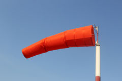 Wind sock of equipment check the wind blow direction in day time Stock Photo