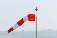 Wind sock in an overcast day Stock Images