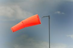 Wind sock in storm Stock Photos