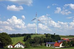 Wind and solar energy Stock Photography