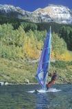 Wind som surfar i Telluride Fotografering för Bildbyråer