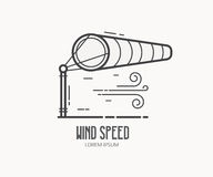 Wind Speed Logo with Windsock Stock Images