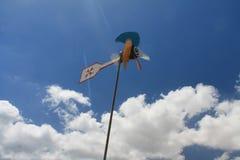 Wind Spinner in Marsaxlokk, Malta. Multicoloured Wind Spinner in Marsaxlokk, Malta, taken whilst exploring the fish market Stock Photo