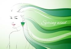 Wind of spring background Stock Photos