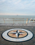 A wind star on a promenade of Pesaro Royalty Free Stock Photo