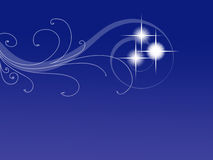 Wind Stars. Windy night sky with stars Royalty Free Stock Image