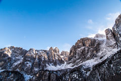 Wind on the summit of the mountain Stock Photography