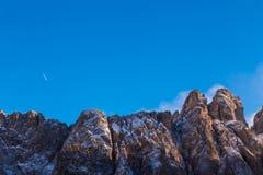 Wind on the summit of the mountain Stock Photo