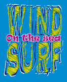 Wind surf graphic Stock Photo