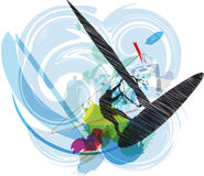 Wind surf illustration Royalty Free Stock Photos