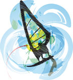 Wind surf illustration Stock Photography