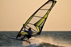 Wind surf jump Stock Images